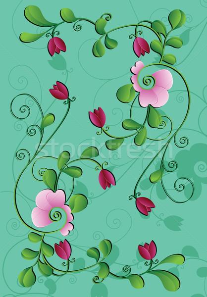 Virág terv levél háttér szépség nyár Stock fotó © iaRada