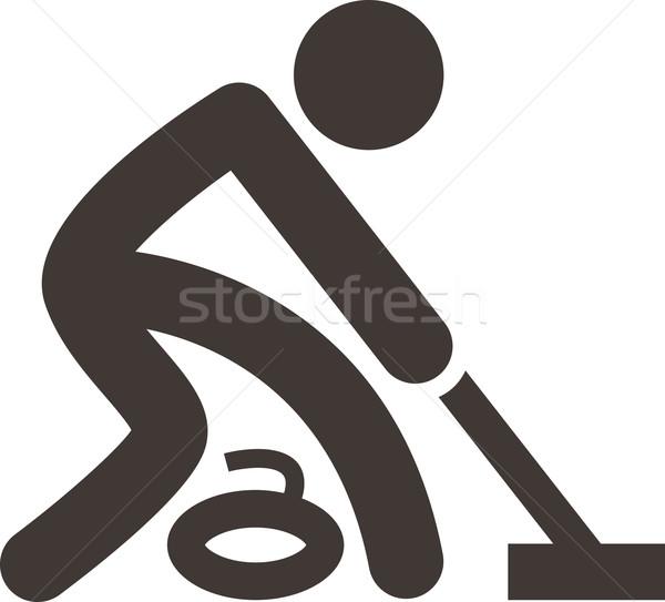 Curling icon Stock photo © iaRada