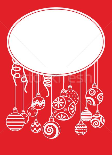 クリスマス 抽象的な 背景 美 シルエット ストックフォト © iaRada