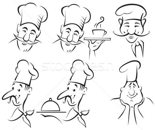 Szakács szakács szett étel terv étterem Stock fotó © iaRada