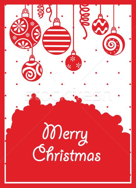 Czerwony christmas streszczenie tle piękna wakacje Zdjęcia stock © iaRada