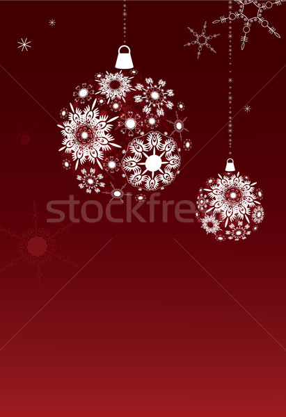 Płatki śniegu środowisk dwa christmas czerwony niebieski Zdjęcia stock © iaRada