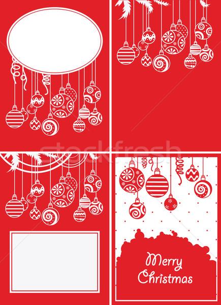 Christmas achtergronden vier abstract achtergrond Stockfoto © iaRada