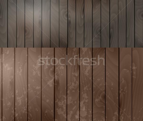 Kettő fa textúrák absztrakt háttér asztal Stock fotó © iaRada