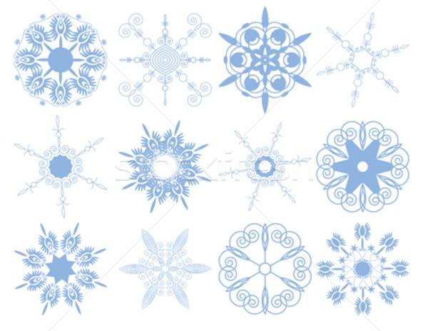 セット 雪 白 抽象的な 雪 背景 ストックフォト © iaRada