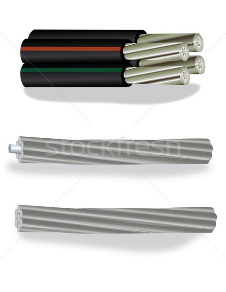 Elektromos alumínium kábel kép ipar energia Stock fotó © iaRada