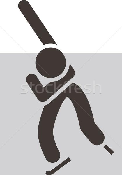 Korcsolya ikon sport sziluett verseny játék Stock fotó © iaRada