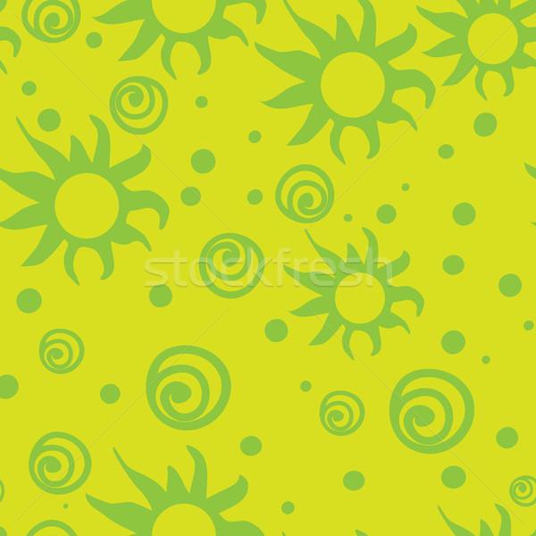 Csillag végtelenített zöld művészet szövet szín Stock fotó © iaRada