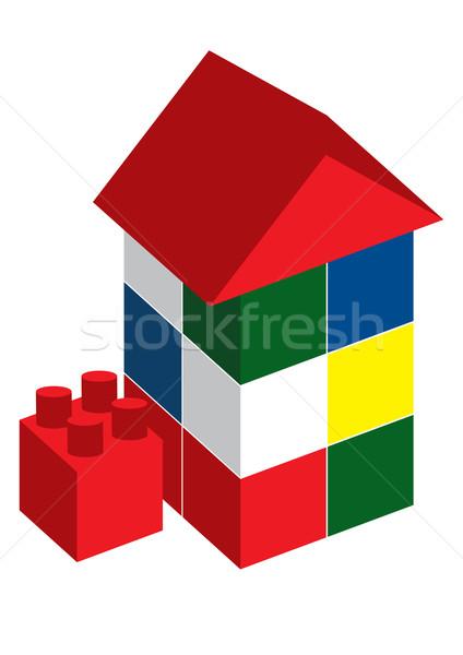 Ház designer épület építkezés terv modell Stock fotó © iaRada