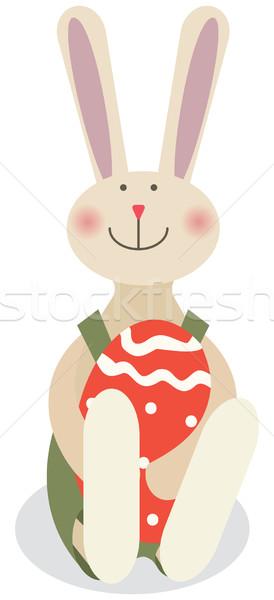 Pasen konijn voorjaar gelukkig kunst bunny Stockfoto © iaRada