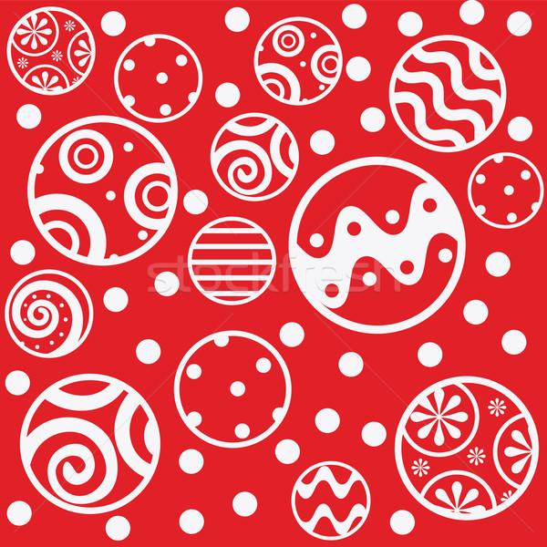 Czerwony bezszwowy christmas streszczenie tle Zdjęcia stock © iaRada