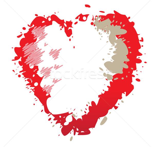 Red heart Stock photo © iaRada