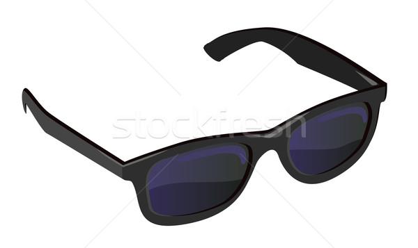 Napszemüveg fekete tengerpart nyár műanyag lencse Stock fotó © iaRada