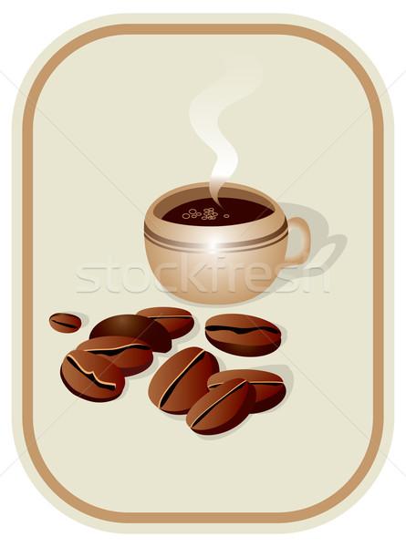カップ コーヒー 穀類 フレームワーク 食品 黒 ストックフォト © iaRada