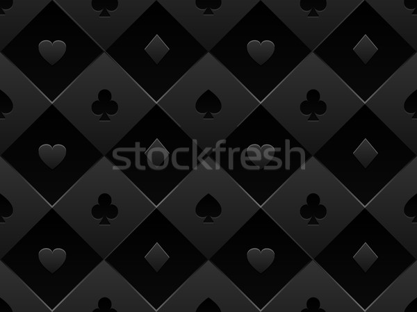 черный ткань покер таблице Сток-фото © Iaroslava