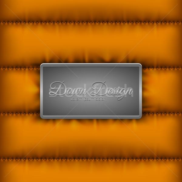 Invierno abajo chaqueta naranja metal escudo Foto stock © Iaroslava