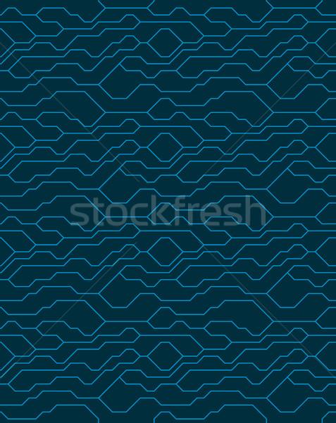 Vector resumen sin costura azul técnica líneas Foto stock © Iaroslava