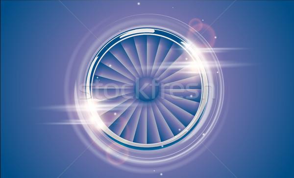Repülőgép gép turbina króm gyűrű retro Stock fotó © Iaroslava