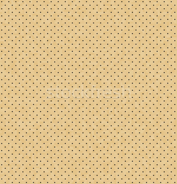 Stock photo: Vector light perforated leather seamless texture. Realistic perforated background. Beige dotted