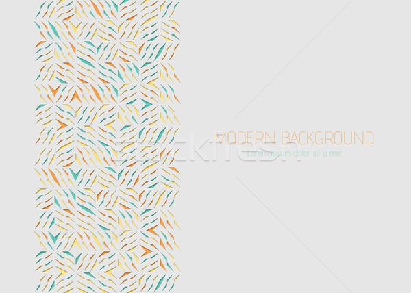 Arabesque geometric greeting card. Colorful paper cut shards design element. Ornamental Stock photo © Iaroslava