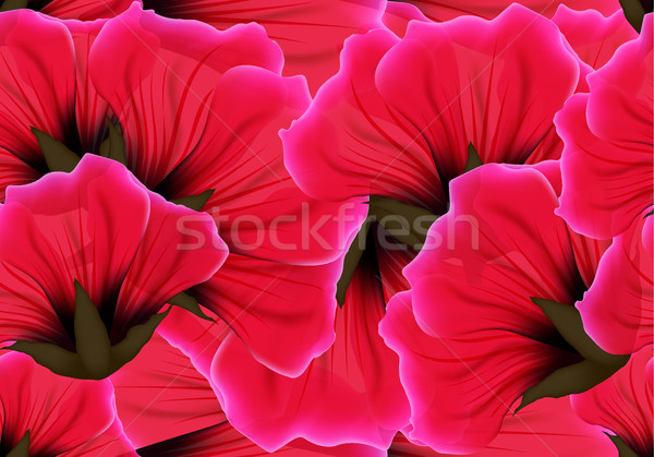 Floral seamless pattern red flower and pink petal. Bright vivid color repeating passion background Stock photo © Iaroslava