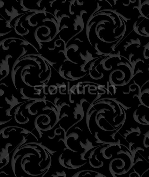 Vecteur baroque damassé noir élégante dentelle Photo stock © Iaroslava