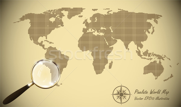 Abstract dotted map old paper halftone retro effect vector add to lightbox download comp gumiabroncs Image collections