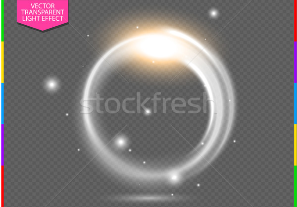 Circular lens flare transparent light effect. Abstract ellipse border Stock photo © Iaroslava