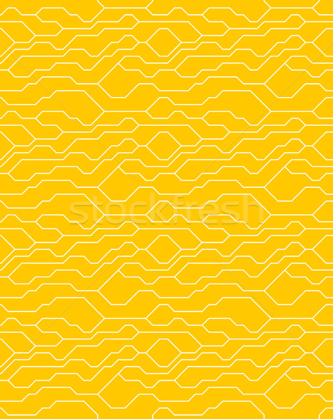 Vector abstract seamless yellow background with technical lines for presentations, business, web Stock photo © Iaroslava
