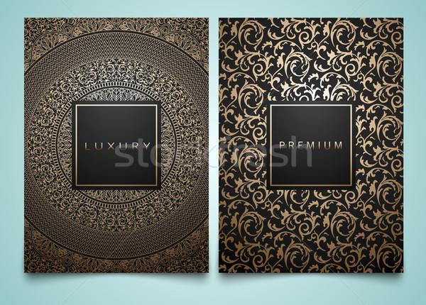 Vector ingesteld verpakking sjablonen verschillend gouden Stockfoto © Iaroslava