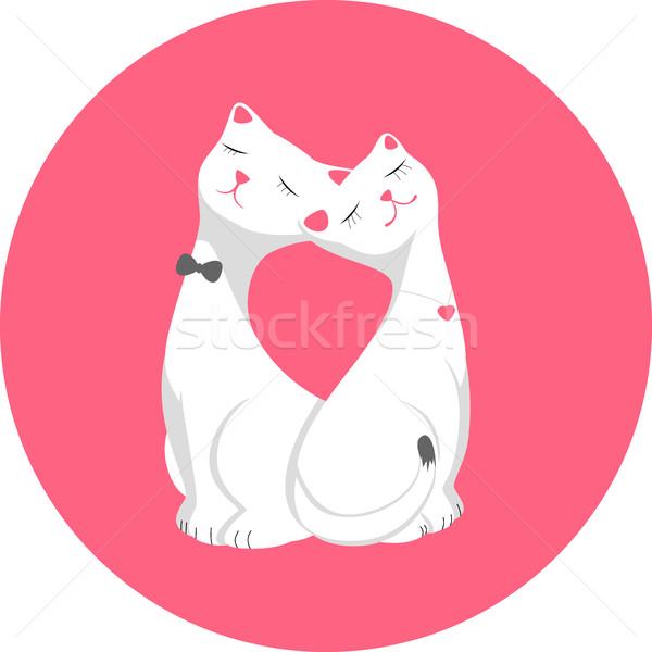 Cats poster Stock photo © Iaroslava