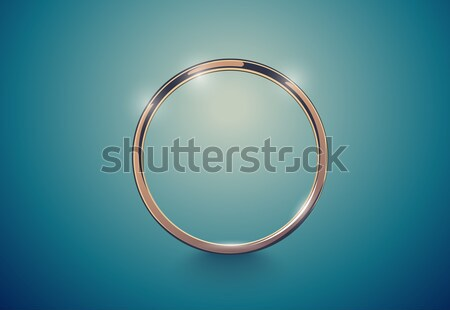 Abstract luxury golden ring. Vector light vintage effect background. Round frame Stock photo © Iaroslava