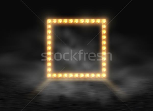 Tér keret izzó fényes villanykörték füst Stock fotó © Iaroslava