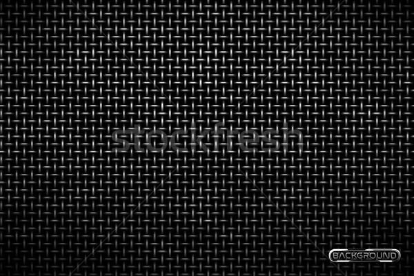 Vector pattern of metal grid techno background. Iron grill industrial texture. Web page fill pattern Stock photo © Iaroslava