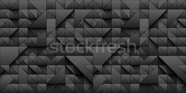 Zwarte driehoek meetkundig 3D ontwerp Stockfoto © Iaroslava
