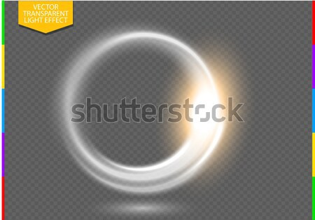 Circular lens flare transparent light effect. Abstract ellipse border. Luxury shining  Stock photo © Iaroslava