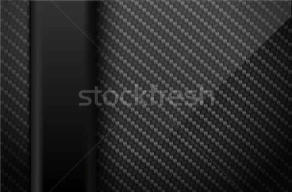Vector zwarte koolstofvezel donkere verticaal plastic Stockfoto © Iaroslava
