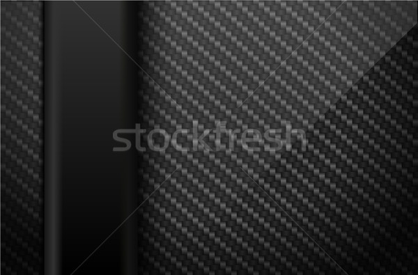 Vector negro fibra de carbono oscuro vertical plástico Foto stock © Iaroslava