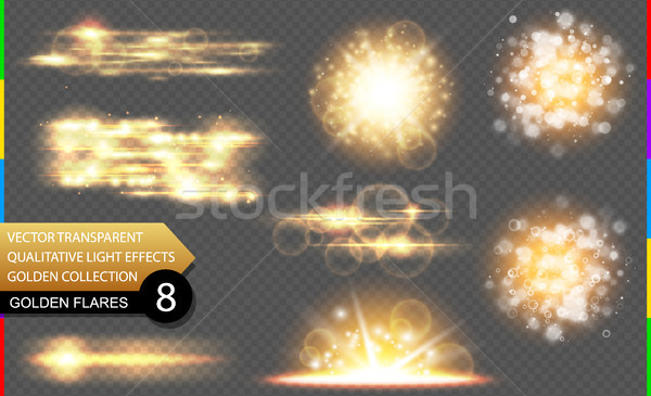 Abstract vector gouden speciaal licht effect Stockfoto © Iaroslava