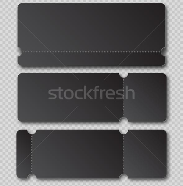 черный билета шаблон элемент изолированный прозрачный Сток-фото © Iaroslava