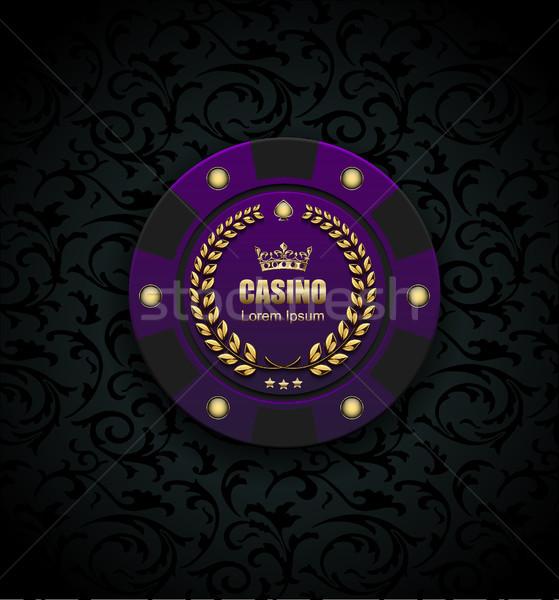 Vip póquer lujo púrpura chip vector Foto stock © Iaroslava