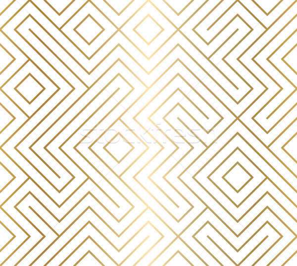Geometric seamless pattern background. Simple graphic print. Vector repeating golden line texture Stock photo © Iaroslava