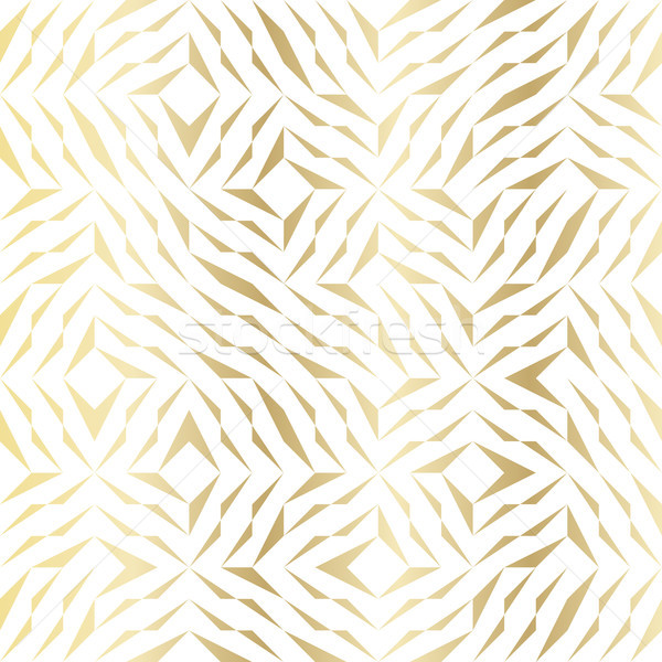Seamless vector geometric golden element pattern. Abstract background with gold white texture Stock photo © Iaroslava