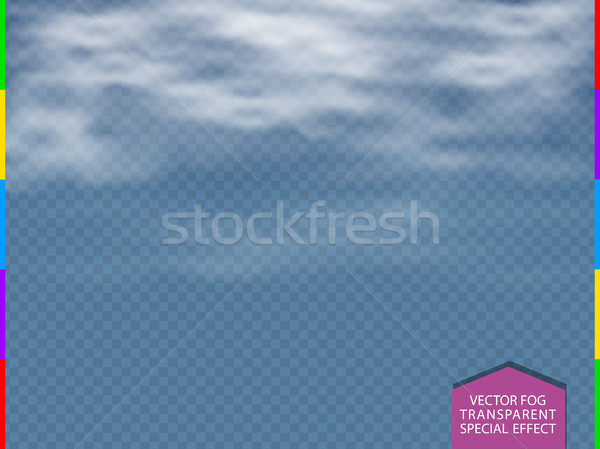 Cloud, fog or smoke isolated transparent special effect. White vector cloudiness, mist or smog  Stock photo © Iaroslava