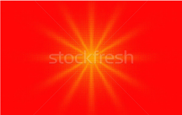 Comic red yellow background dotted gradient halftone pop art retro style design. Shine star or sun Stock photo © Iaroslava