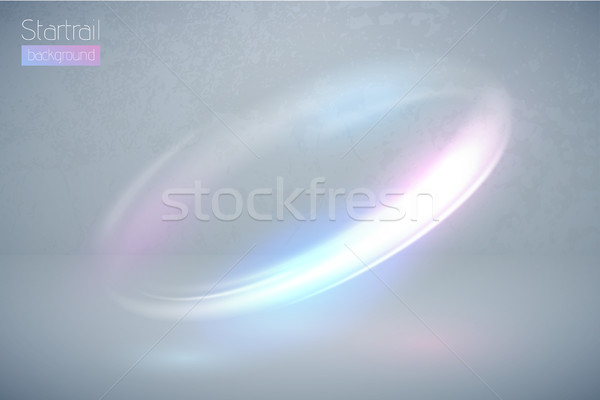 Circular flare multicolor light effect. Abstract galaxy ellipse border. Luxury shining rotational Stock photo © Iaroslava