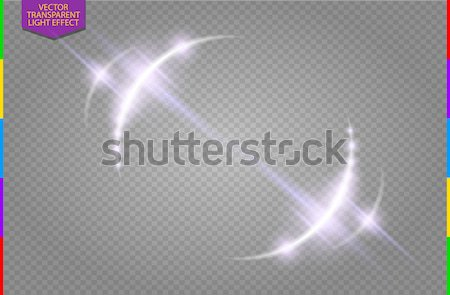 Circular lens flare transparennt light effect. Abstract galaxy. Beautiful ellipse border. Luxury Stock photo © Iaroslava