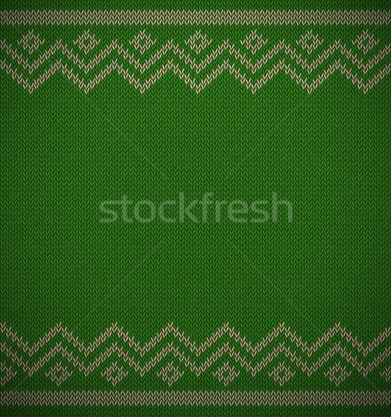 Knit christmas geometric background space for text. Realistic xmas horizontal vector pattern Stock photo © Iaroslava