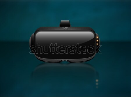 Realistic 3d Virtual Reality Headset Box Closeup front View. Futuristic Innovation digital Stock photo © Iaroslava