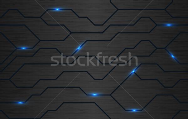 Seamless vector futuristic dark iron techno texture Stock photo © Iaroslava